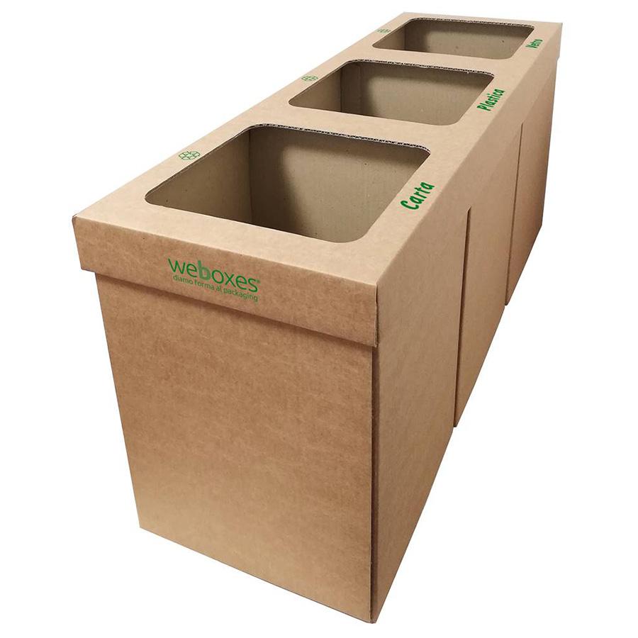 Cestini Raccolta Differenziata Casa bidoni per raccolta differenziata riciclabili 100% - weboxes