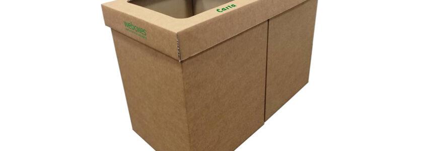 Bidoni in cartone per la raccolta differenziata. Riciclabili al 100%