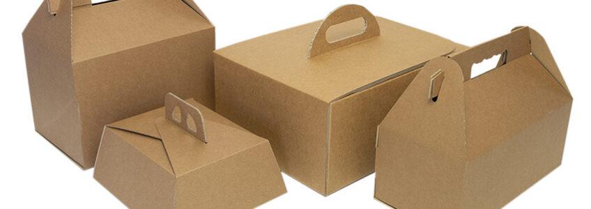 Scatole per spedire e consegnare prodotti alimentari