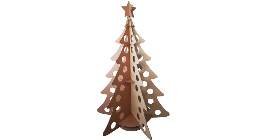 Albero di natale da comporre |  decorazioni natalizie in cartone