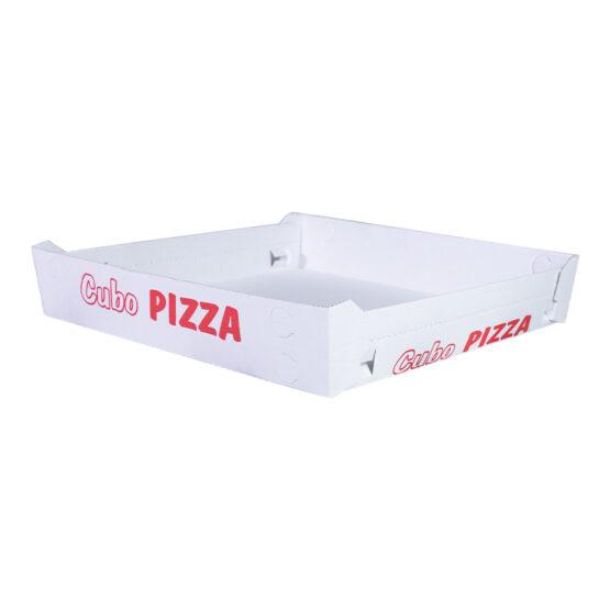 Cubo porta pizza formato classico bianco