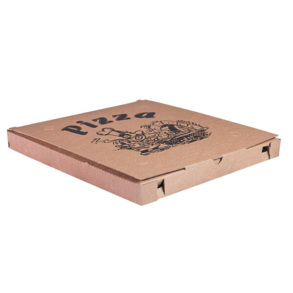 Scatola per pizza formato classico avana