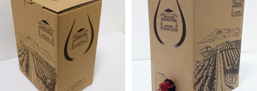 Acquistate online scatole Bag in Box in cartone ondulato